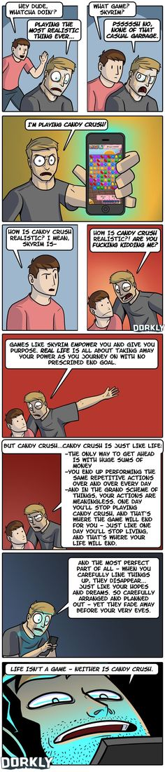 Candy Crush vs Skyrim by Dorkly