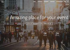 Eve - Event Landing Page Event Landing Page, Landing Page Html, Landing Page Design, Header Design, Web Design, Concept Web, Consulting Companies, Online Marketing Tools, Website Header