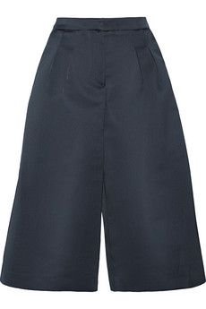 MSGM Duchesse-satin culottes | NET-A-PORTER