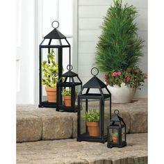 Black Mini Contemporary Lantern.