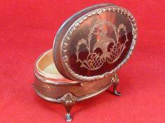 Antique Edwardian English Sterling Silver and Shell Ring Box Henry Matthews #HenryMatthews
