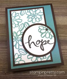 Stampin Up Watercolor Words Sympathy Card By Mary Fish StampinUp