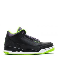 Air Jordan 3 Retro Joker Black Elctrc Grn Cnyn Prpl Wht 136064 018 Jordan Shoes For Sale, Cheap Jordan Shoes, Cheap Jordans, Air Jordan Shoes, Jordan Store, Air Jordan 3, Cheap Air, Retro Shoes, Shoe Sale