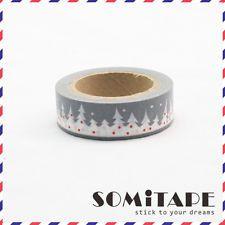 Snowy Christmas Trees Washi Tape, Craft Decorative Tape
