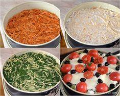 Włoski tort makaronowy Palak Paneer, Feta, Spaghetti, Ethnic Recipes, Foods, Finger Food, Food Food, Noodle