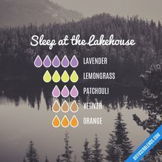 Sleep at the Lakehouse - Essential Oil Diffuser Blend #aromatherapysleeprecipes