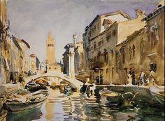 Venetian Canal, 1913,John Singer Sargent