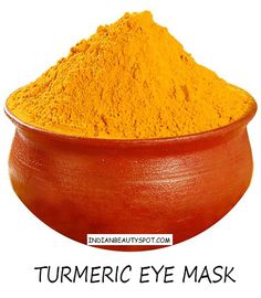 Turmeric Eye Mask. For dark circles and puffiness.