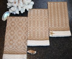 Handwoven Guest Towels Gift Towels Bamboo Cotton by ThrumsTextiles, $20.00