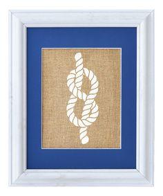 Look at this #zulilyfind! Figure-8 Knot Framed Burlap Print by Fiber and Water #zulilyfinds