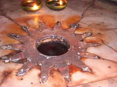 The Star of Bethlehem in the Church of the Nativity marks the spot where Jesus was born www.ffhl.org #Franciscan #HolyLand