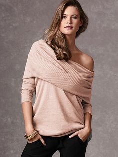 Multi-way Tunic Sweater - I love clothing with versatility