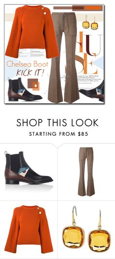 """Kick It : Chelsea Boot"" by court8434 ❤ liked on Polyvore featuring Fendi, Marques'Almeida, Vanessa Bruno, Michael Kors and chelseaboots"