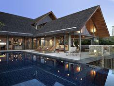 ♥ ferienvilla mit spitzdach und glaswänden