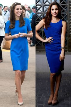 Meghan Markle and Kate Middleton Are Fashion Twins - Kate and Meghan Style Photos Meghan Markle Dress, Meghan Markle Style, Style Kate Middleton, Pippa Middleton, Star Fashion, Fashion Photo, Dress Fashion, Fashion Fashion, Pantyhosed Legs