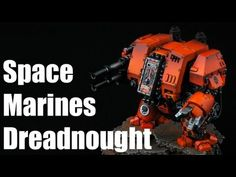 How to paint Space Marines Dreadnought? Astral Tigers Warhammer 40k Airbrush Tutorial 2/2 - YouTube