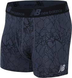 """Amazon.com: New Balance Men's Dry Fresh Trunk Underwear (Pack of 1), Fractured Ice Print, X-Large (40-42""""): Clothing 40 Years Ago Today, Trunks Underwear, Athletic Supporter, New Balance Men, Boxer Briefs, Ice, Fresh, Amazon, Clothing"""