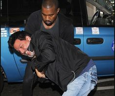 Kanye West assaulting a Photographer