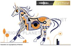 Horse Vector illustration Geometric Shape & intricate by sasta10