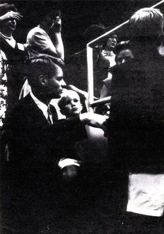 David with his father on the floor of the convention - July 13, 1960