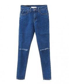 Rippled Skinny High Waist Denim Pants
