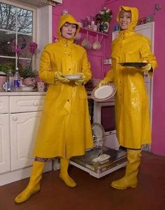 Yellow pvc macks