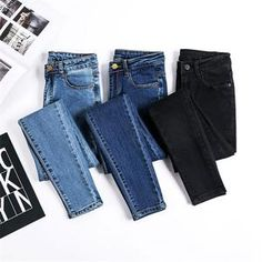 Spring Summer Skinny Jeans Woman Plus Size High Waist Jeans Girls Slim Pencil Denim Pants For Women Spodnie Damskie Jeansy Source by size fashion for women black girl Black Denim Pants, Denim Skinny Jeans, Skinny Pants, Casual Jeans, Cute Casual Outfits, Jeans Style, Trousers Women, Pants For Women, Clothes For Women