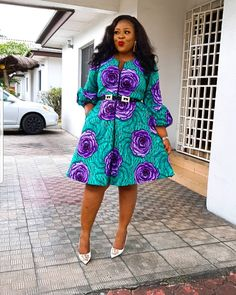 """Today we bring to you """"Enchanting Ankara Styles to Copy."""" Ankara is so lovable that you would find it difficult and hard to find faults in it styles. Ankara has made the fashion community a more competitive one. Short African Dresses, Ankara Short Gown Styles, African Print Dresses, Short Gowns, Ankara Gowns, African Lace, African Fashion Ankara, Latest African Fashion Dresses, African Print Fashion"""