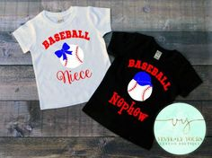 Baseball Niece-Baseball Nephew-Baseball Niece by VYCustomBoutique