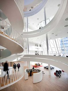 Saxo Bank head offices in Copenhagen designed by 3XN.