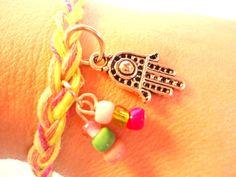 Hamsa bracelet friendship bracelet charm by VazJewelryOriginals
