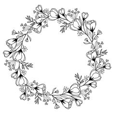 Artemio Good Vibes Wooden Stamp Flower Wreath 10 cm x 10 cm, Grey, 10 x 10 cm Pillow Embroidery, Embroidery Flowers Pattern, Flower Patterns, Hand Embroidery, Embroidery Designs, Tattoo Couronne, Kranz Tattoo, Floral Wreath Printable, Wreath Tattoo