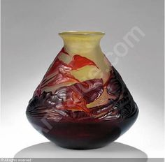 GRAND VASE EN VERRE MULTICOUCHES SOUFFLé sold by Sotheby's, Paris, on Friday, May 16, 2003