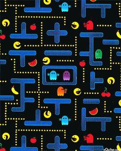 Pocket Arcade - Pac-Man - Quilt fabrics from www.eQuilter.com