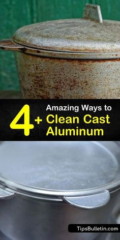Learn how to clean cast aluminum, whether that's a frying pan or the aluminum parts for your car. Cleaning cast aluminum is easy with hot water mixed with cream of tartar. Wash the aluminum surface of your intake manifold with a wire brush and oven cleaner. #castaluminum #aluminumpan #cleanaluminum How To Clean Aluminum, Aluminum Uses, How Do You Clean, Oven Cleaner, Vinegar And Water, Natural Health Tips, Car Cleaning, Surface, It Cast