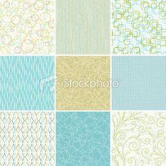 Set of Seamless Wallpaper Patterns Royalty Free Stock Vector Art Illustration