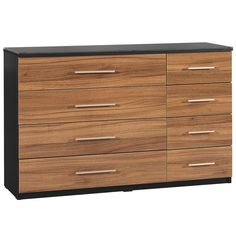 Elegance High Gloss Walnut 4 plus 4 Drawer Chest A