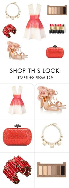 """Untitled #604"" by wali-emna ❤ liked on Polyvore featuring Joana Almagro, Rupert Sanderson, Bottega Veneta, Valentino, Urban Decay and L'Oréal Paris"