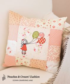 = free pattern and tutorial = Balloon Girl embroidery and applique at Down Grapevine Lane
