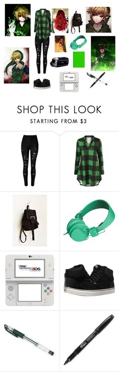 """BEN DROWNED"" by alleymonster12 ❤ liked on Polyvore featuring Urban Outfitters, Urbanears, Nintendo, Vans and Uni-ball"