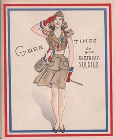 us vintage cards for soldiers - Google Search