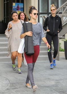 When Alessandra Ambrosio isn't walking a runway, she's in yoga pants, which means plenty of athletic outfit inspiration for those early-morning gym sessions.