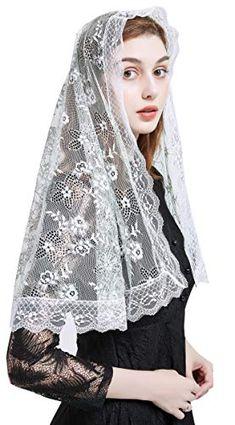 Chapel Veil Lace Floral Infinity Veil Mantilla veil Y074