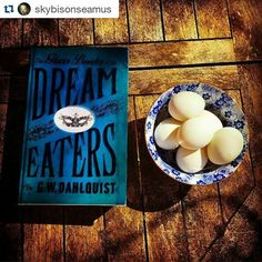 Thank you @skybisonseamus this is a beautiful shot! #bookstsagramwiz  #Repost @skybisonseamus with @repostapp  I was tagged by the wonderful @scatterbooker for #bluebooks . I'd already done a blue bookstack pic a short while back so this time I have gone for The Glass Books of the Dream Eaters. I loved this. Bit of a doorstop yes but a good steampunk victoriana romp. Here with a blue bowl I got in Tokyo filled with some fresh duck eggs my friend just dropped off from their farm (they're…