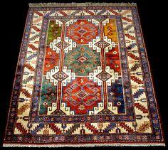 Beautiful!  A Moghan rug, Caucasian Moghan rugs, Memling design, Azerbaijanrugs.com