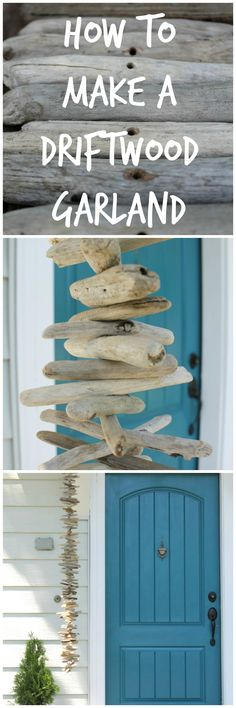 Get the Beach House look with this Driftwood Garland.
