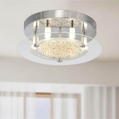 Contemporary Glass 6-light Flushmount Ceiling Chandelier | Overstock.com Shopping - Big Discounts on Flush Mounts