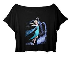 Women's Crop Top Frozen T-shirt Elsa Action Shirt (black) http://www.amazon.com/dp/B015CHZAYG/ref=cm_sw_r_pi_dp_kBQ9vb17PGFPD