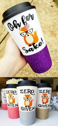 Cute Fox Travel Mugs. Cute mugs, cool mugs, funny mugs, unique mugs, travel mugs, glitter mugs, coffee mugs, tea mugs, wine, gifts. #mugs #coffee #gifts #shopping #commissionlink