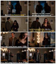 "Kara and Mon-El's conversations in Kara's apartment are just so much fun. Melissa Benoist and Chris Wood play off each other so well <3 |TV Shows||CW||#Supergirl edit||Season 2||2x12||""Luthors""||Kara x Mon-El||#Karamel edit||Kara Danvers||#DCTV|"